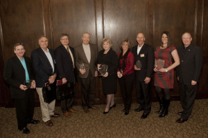 Flower Mound Chamber of Commerce award recipients are honored at a recent luncheon.