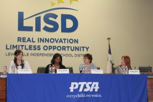 Lewisville Independent School District Board of Trustees candidate forum held by the LISD Council of PTAs. (Photo by Dawn Cobb)
