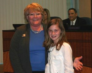 Mayor Wilcox and Mayor for the Day Anna Robinson