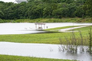 Twin Coves Park flooding in Flower Mound on Lake Grapevine.  Photo by Judy Keow