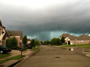 Argyle tornado as seen from Lantana. Photo by Melissa Garzon-Matthews