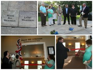 Double Oak officials paid tribute to former mayor Bill Wilkinson and Laura Wilkinson.