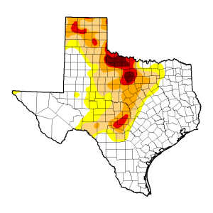 wx map texas