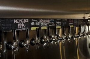 A number of taps line one wall, offering a variety of brews. (Photo by Bill Castleman)