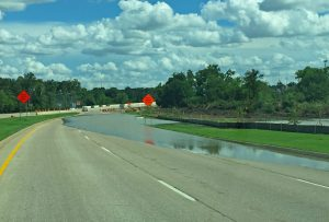 FM 2499 southbound at Denton Creek on June 18, 2015.
