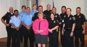 Highland Village Mayor Charlotte Mayor Wilcox declared May 10-16 as Police Week in Highland Village.