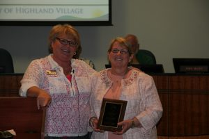 Highland Village Mayor Charlotte Wilcox and City Secretary Diane Callahan (Photo: Courtesy Highland Village)