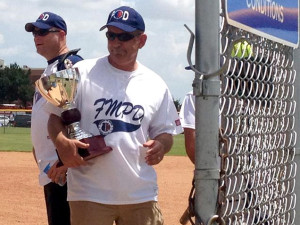 The Flower Mound Police Department took home the trophy Saturday after a victory over the fire department in a game of softball.