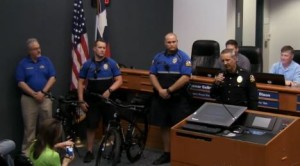 Flower Mound Police Chief Andy Kancel talks about the department's bicycle patrol unit.