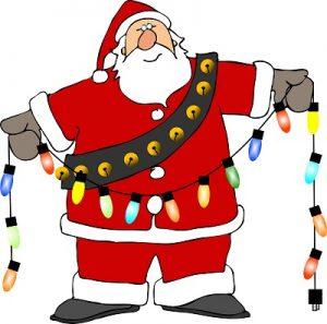 c. stroup - santa with lights