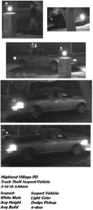 The images above are of the suspect and the suspect's vehicle, according to police.