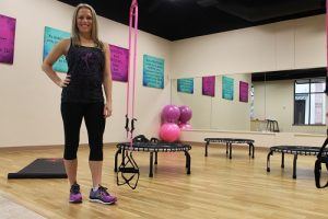 ME BODY BABY Fitness owner Andrea Steponaitis stands inside the premiere women's fitness studio at 2608 Long Prairie Road, Suite 201.